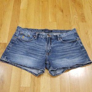 👍Ralph Lauren Destresed Denim Shorts Size 10